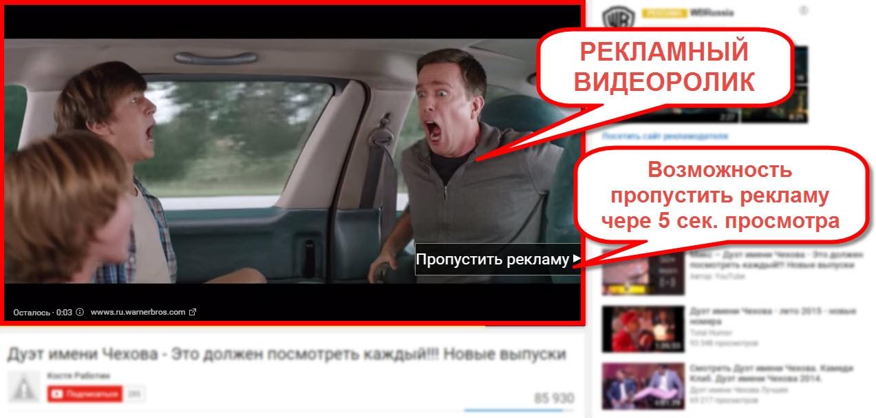 Контекстная реклама на youtube